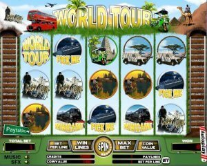 Put Your Feet Up on the World Tour of Slots